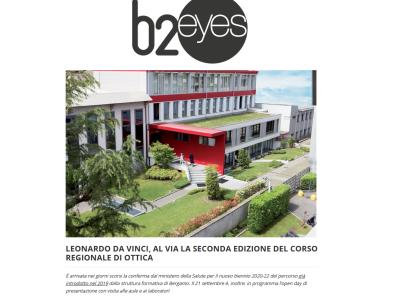 """B2Eyes parla di noi: """"Al via la seconda edizione del corso regionale di Ottica"""""""