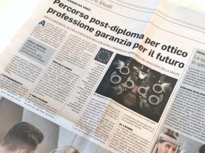 """Corriere della Sera: """"Percorso post-diploma per Ottico, una garanzia per il futuro"""""""