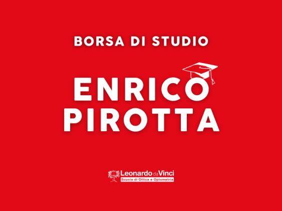 """È ufficiale, nasce la Borsa di Studio """"Enrico Pirotta"""""""